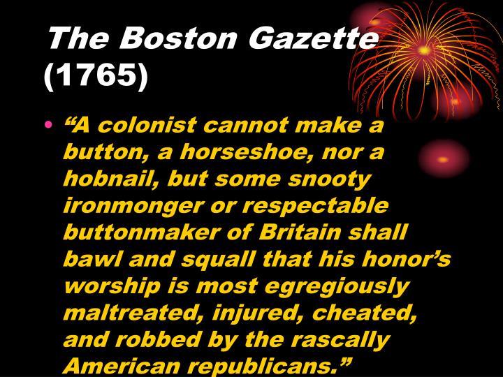 The Boston Gazette