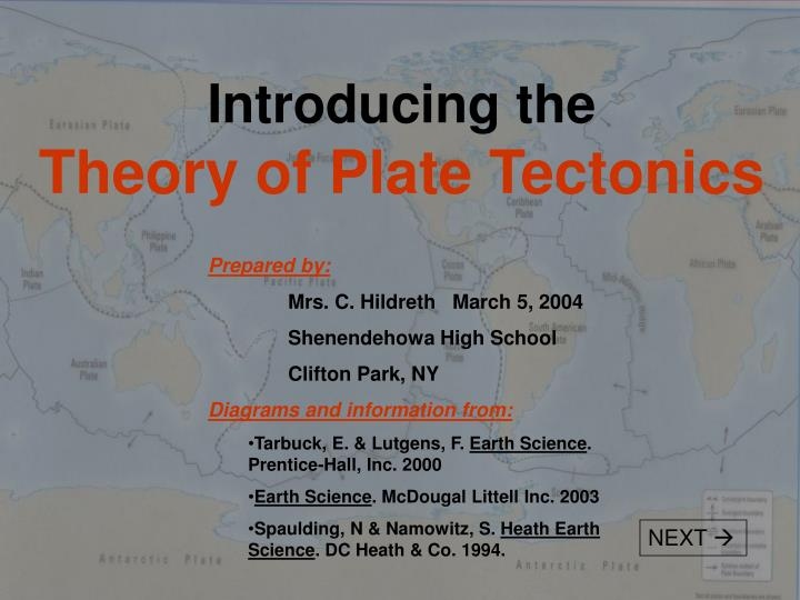 Introducing the theory of plate tectonics