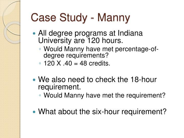 Case Study - Manny