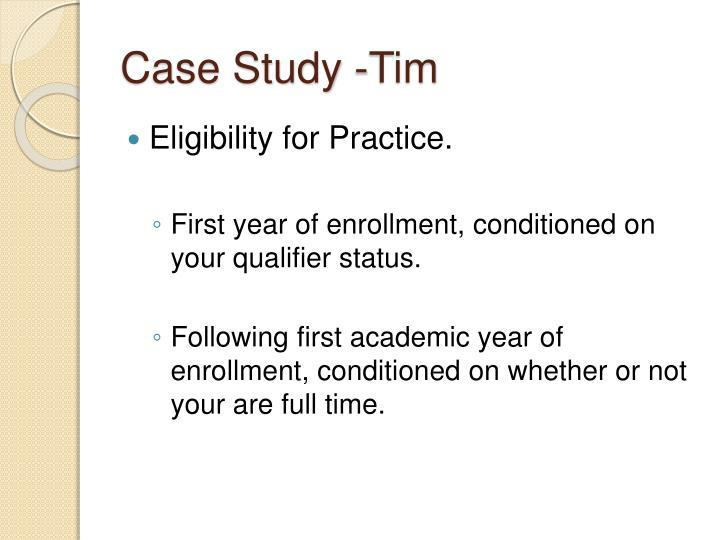 Case Study -Tim