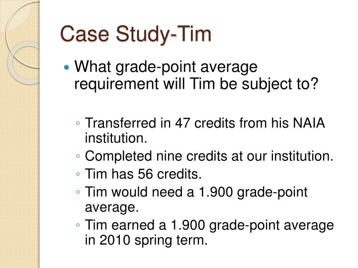 Case Study-Tim