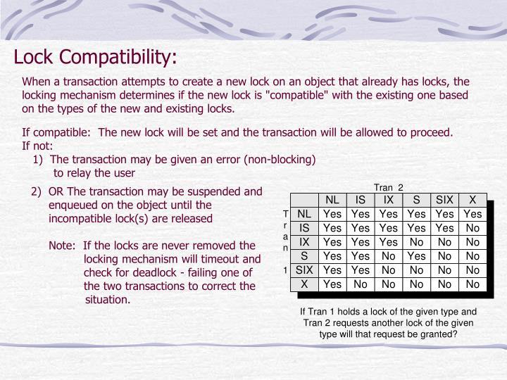 Lock Compatibility: