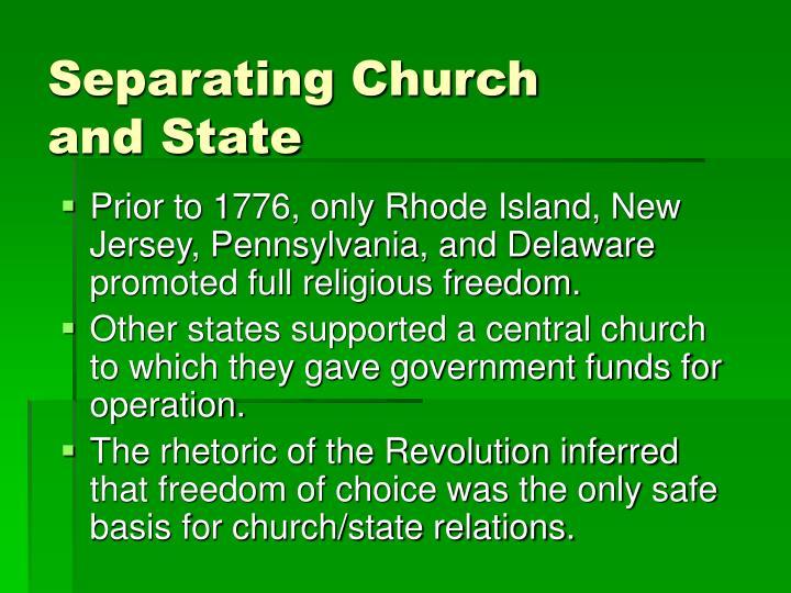Separating Church