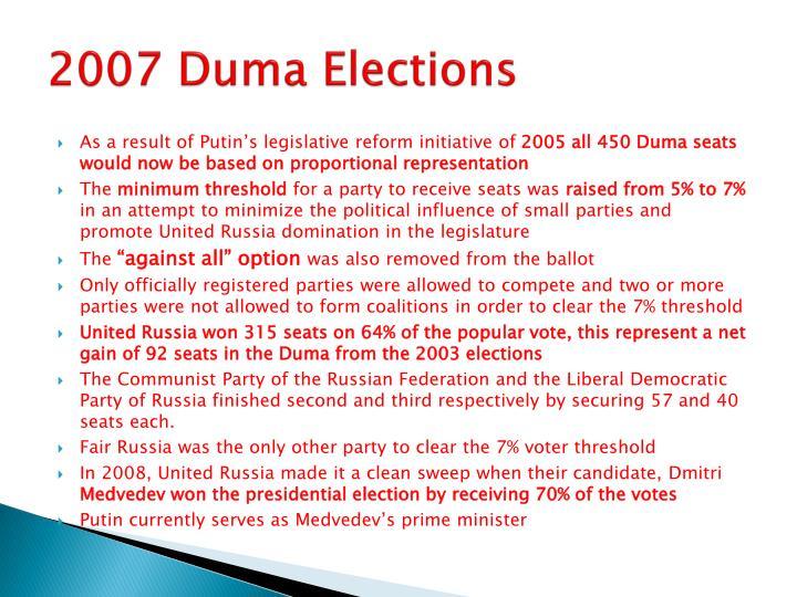 2007 Duma Elections