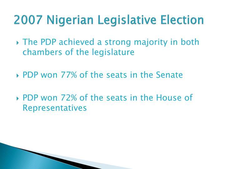 2007 Nigerian Legislative Election