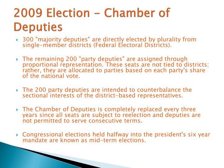 2009 Election - Chamber of Deputies