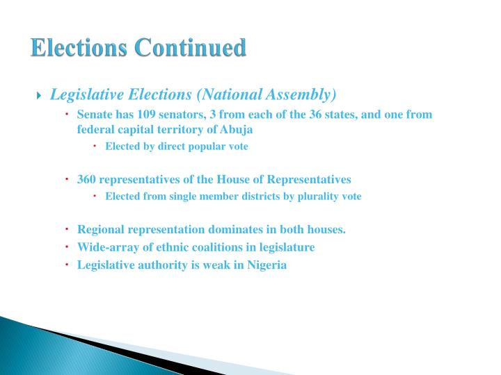Elections Continued