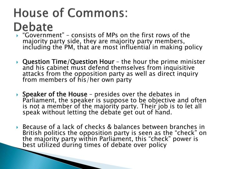 House of Commons: