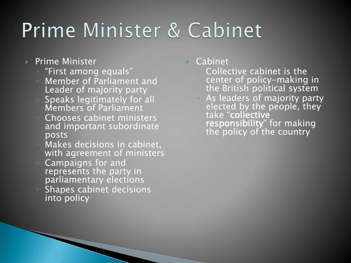 Prime Minister & Cabinet