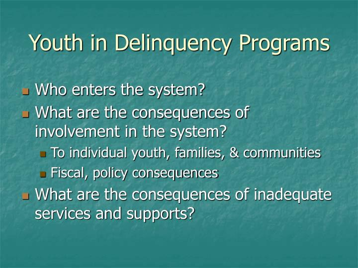 Youth in Delinquency Programs