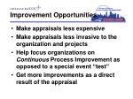 improvement opportunities