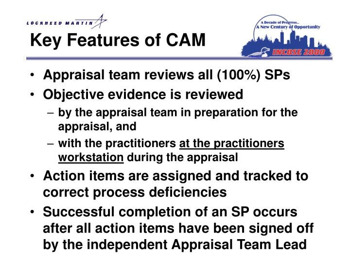 Key Features of CAM