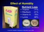 effect of humidity