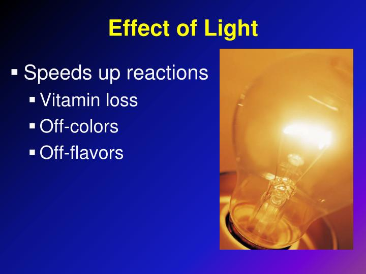 Effect of Light