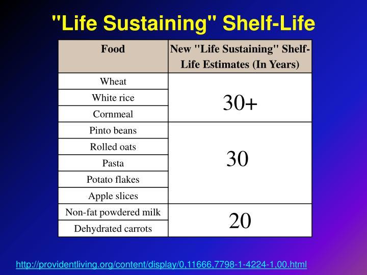 """""""Life Sustaining"""" Shelf-Life"""