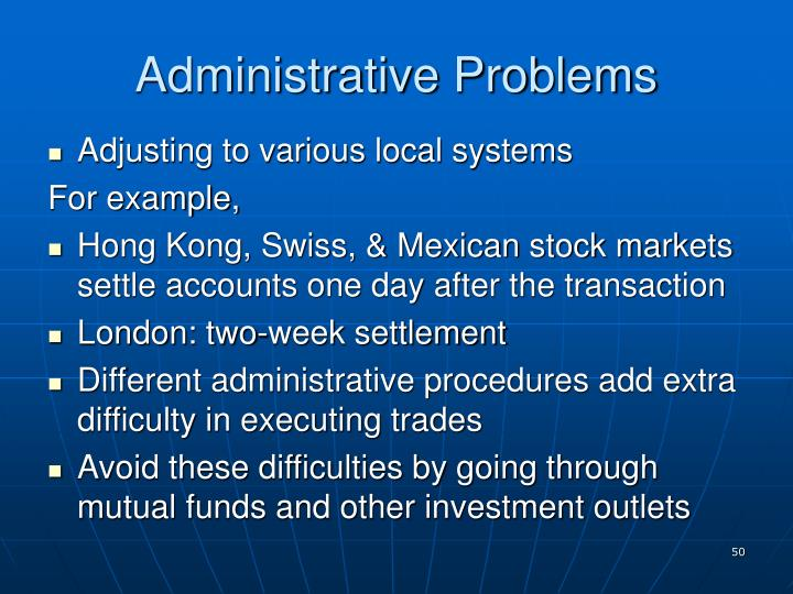 Administrative Problems