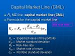 capital market line cml