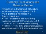 currency fluctuations and rates of return2