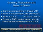 currency fluctuations and rates of return3