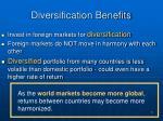 diversification benefits