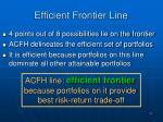 efficient frontier line