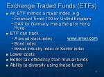 exchange traded funds etfs
