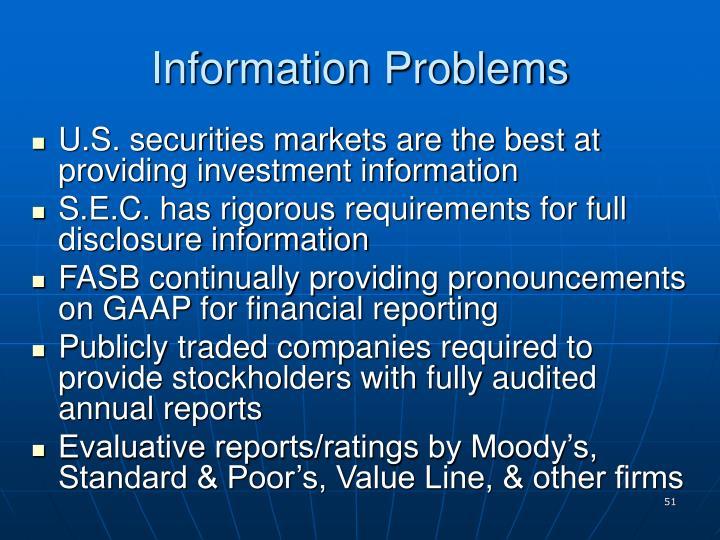 Information Problems