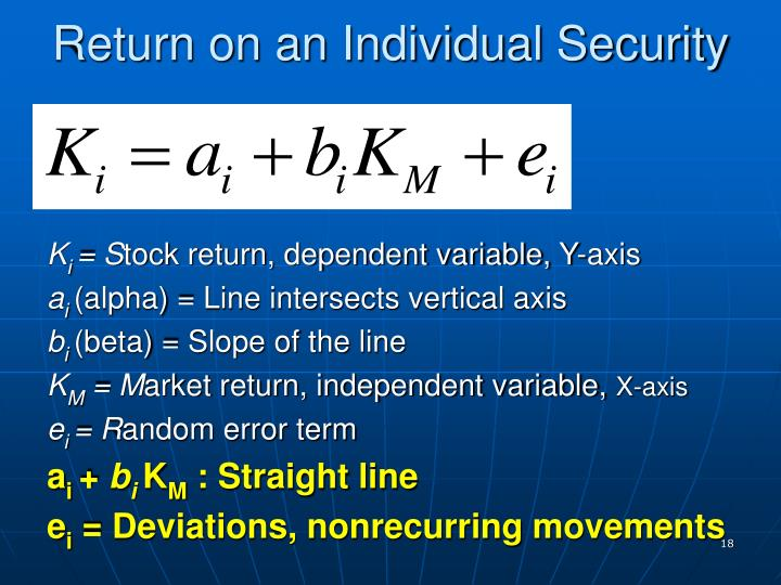 Return on an Individual Security