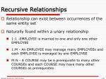 recursive relationships