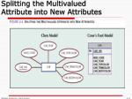splitting the multivalued attribute into new attributes