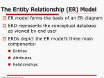 the entity relationship er model