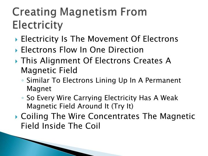 Electricity Is The Movement Of Electrons
