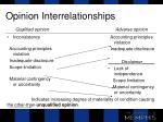 opinion interrelationships