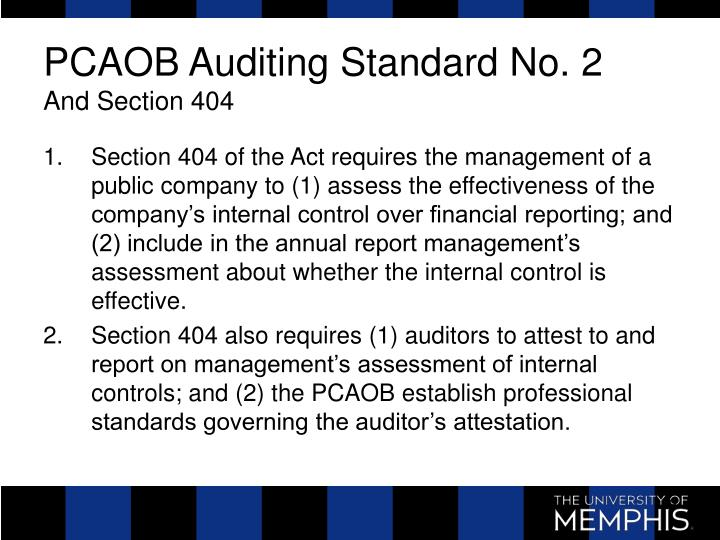 PCAOB Auditing Standard No. 2