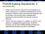 pcaob auditing standard no 2 and section 404