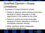 qualified opinion scope limitations