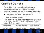 qualified opinions
