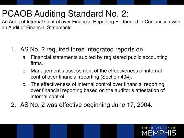 PCAOB Auditing Standard No. 2: