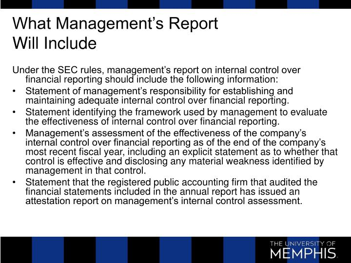 What Management's Report