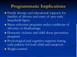 programmatic implications3