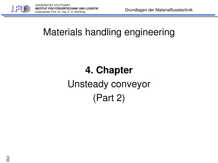 Materials handling engineering