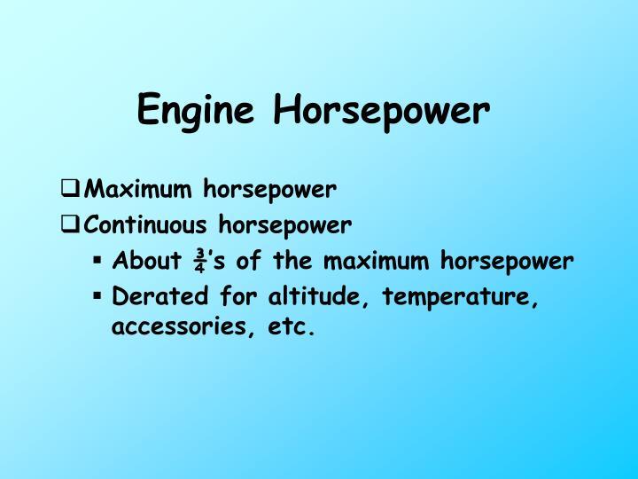 Engine Horsepower