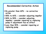 recommended corrective action