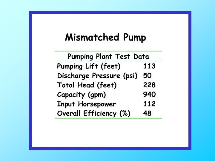 Mismatched Pump