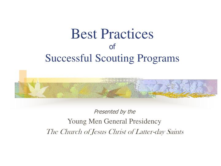 best practices of successful scouting programs