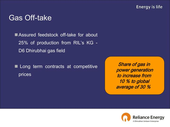 Gas Off-take