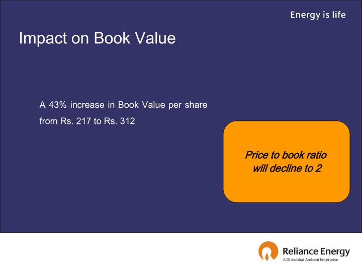 Impact on Book Value