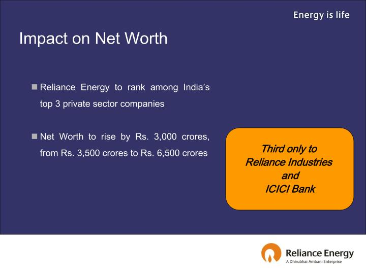 Impact on Net Worth