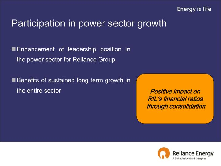 Participation in power sector growth