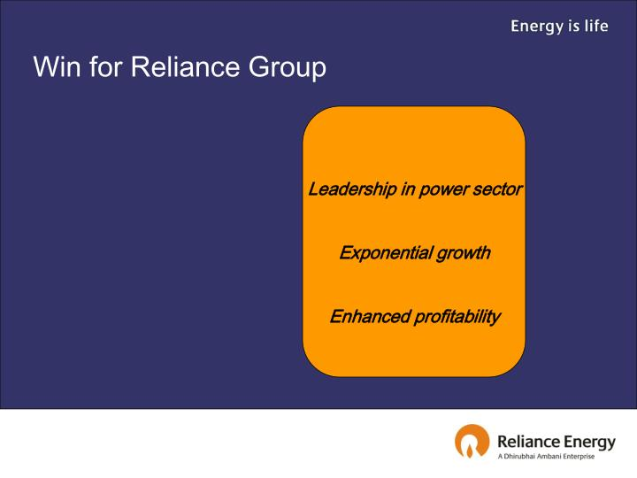Win for Reliance Group